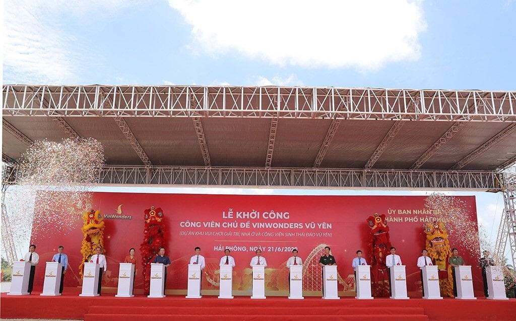 Nghi thức Khởi công dự án Công viên chủ đề lớn nhất Việt Nam tại Hải Phòng.